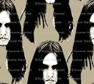 Black Metal heads 1 beige