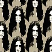 Black Metal heads 1 beige