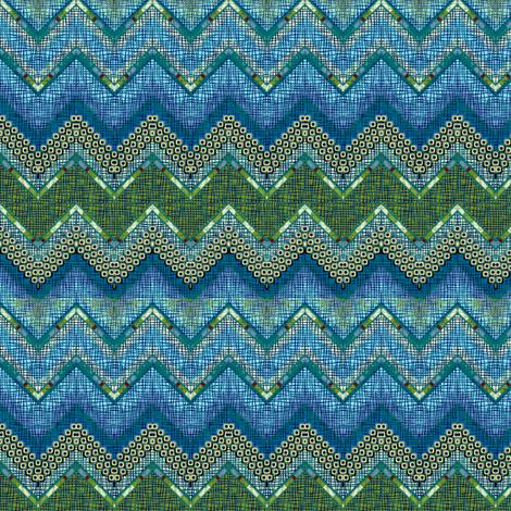 atlantis chevron fabric by glimmericks on Spoonflower - custom fabric