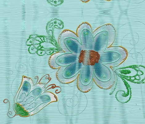 INDIAN BROCADE fabric by claudiavv on Spoonflower - custom fabric