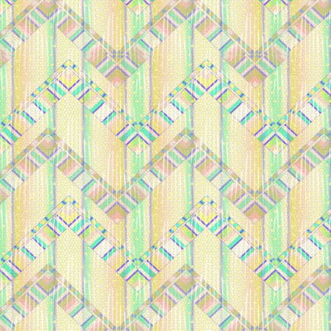 beach house zigzag fabric by glimmericks on Spoonflower - custom fabric