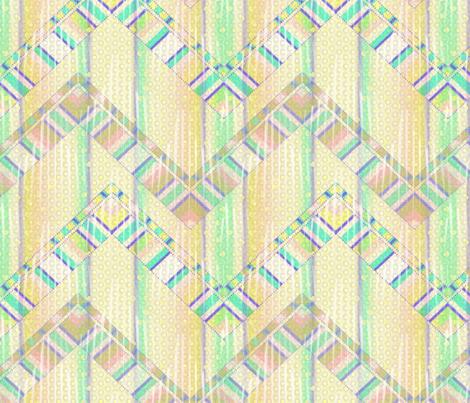 beach house zigzag 3X fabric by glimmericks on Spoonflower - custom fabric