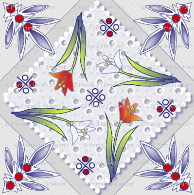 delft lace polychrome