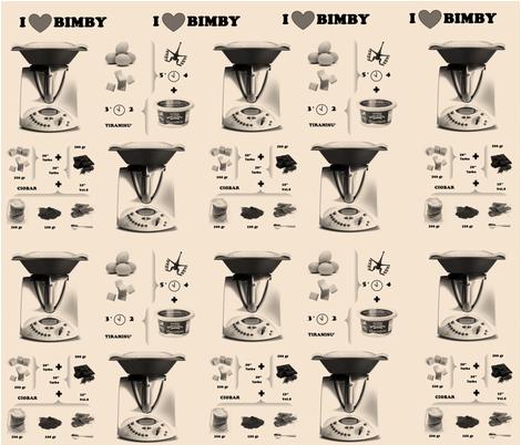 I LOVE BIMBY fabric by creale on Spoonflower - custom fabric