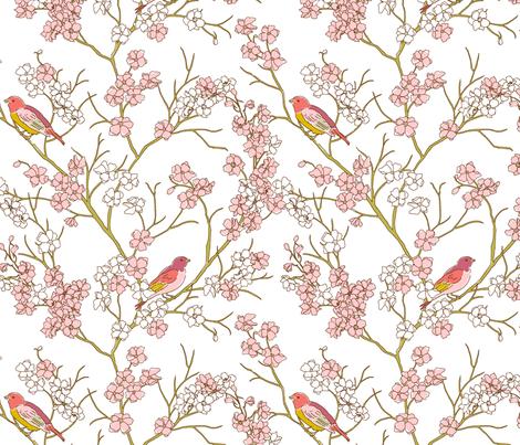 Bird_Print fabric by duckerdesigns on Spoonflower - custom fabric
