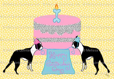 Boston Terrier Birthday Celebration