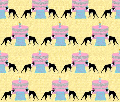 Boston Terrier Birthday Celebration fabric by missyq on Spoonflower - custom fabric