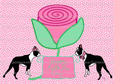 Boston Terriers love Moms