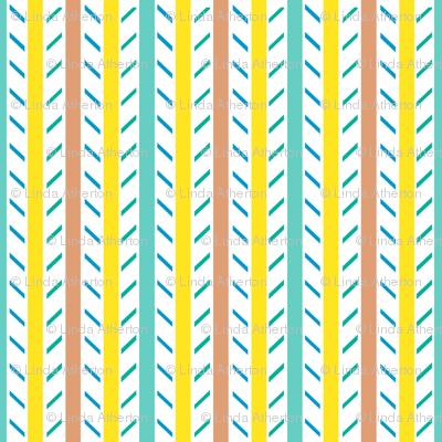 Candy Stripes - Minty Lemon Peach