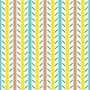 Candy Stripes - Minty Lemon Peach