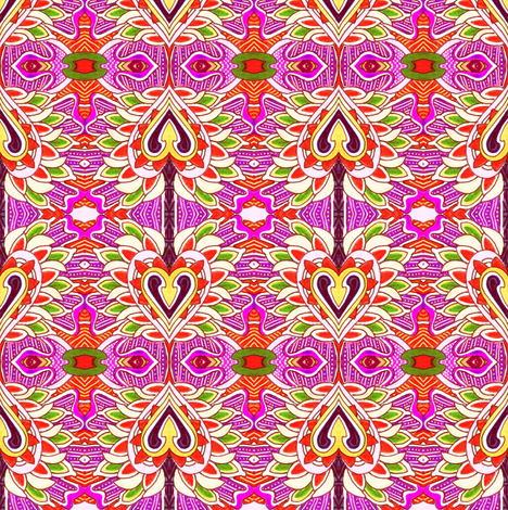 Cupid's Arrows fabric by edsel2084 on Spoonflower - custom fabric