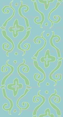 baroque lozenge small - mermaid