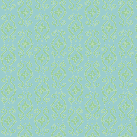 baroque lozenge small - mermaid fabric by tractorgirl on Spoonflower - custom fabric