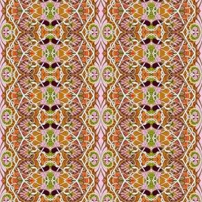 Feminine Floral Zig Zag vertical stripe