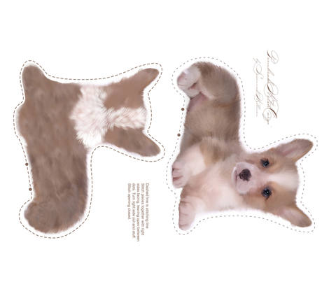 corgi puppy plushie fabric by suziwollman on Spoonflower - custom fabric