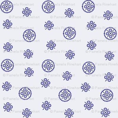 delft dots blue