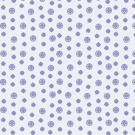 delft dots blue fabric by glimmericks on Spoonflower - custom fabric