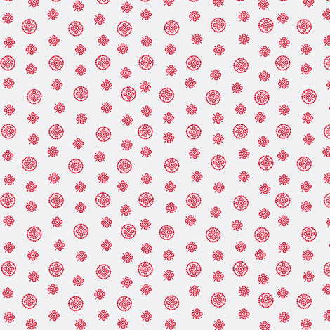 delft dots red fabric by glimmericks on Spoonflower - custom fabric