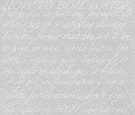 How To Boil Water fabric by dollyw on Spoonflower - custom fabric