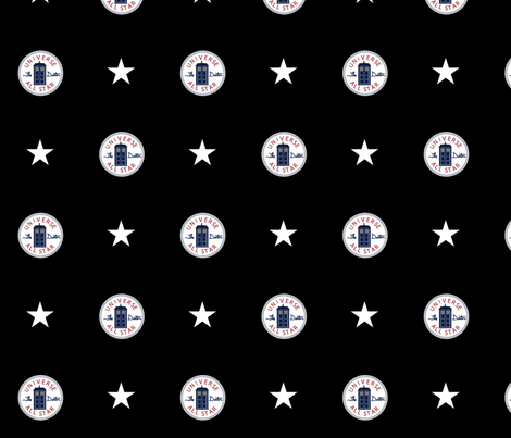 Universe All Star on Black fabric by jackiefour on Spoonflower - custom fabric