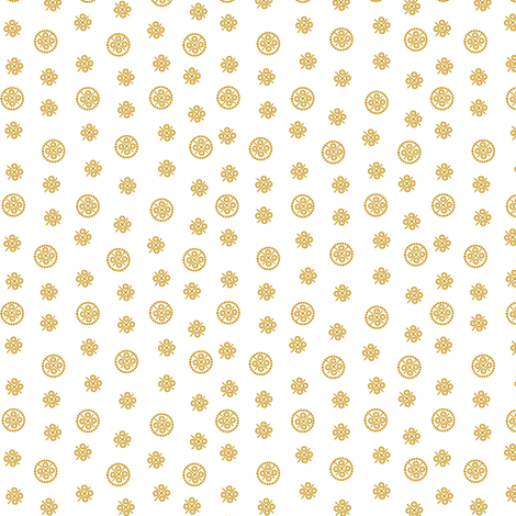 delft dots gold fabric by glimmericks on Spoonflower - custom fabric