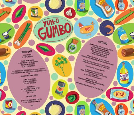 YUM-O GUMBO!! fabric by gsonge on Spoonflower - custom fabric