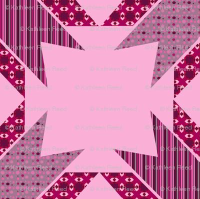 Pink star Kaleidoscope