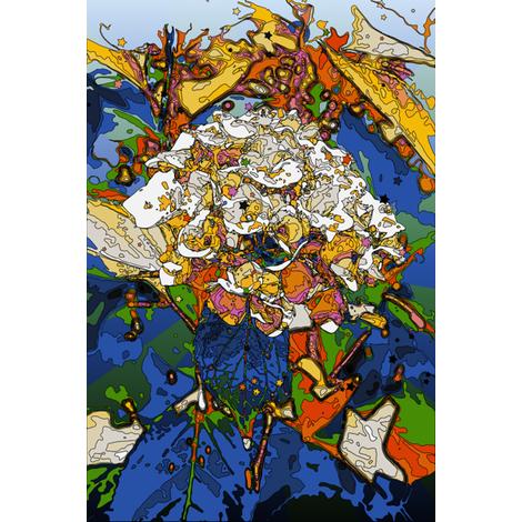 Sixties Hydrangea fabric by dssheck on Spoonflower - custom fabric