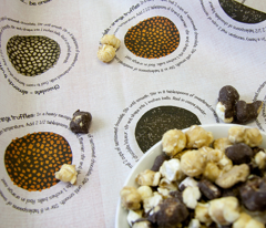 Truffles recipes on fabric
