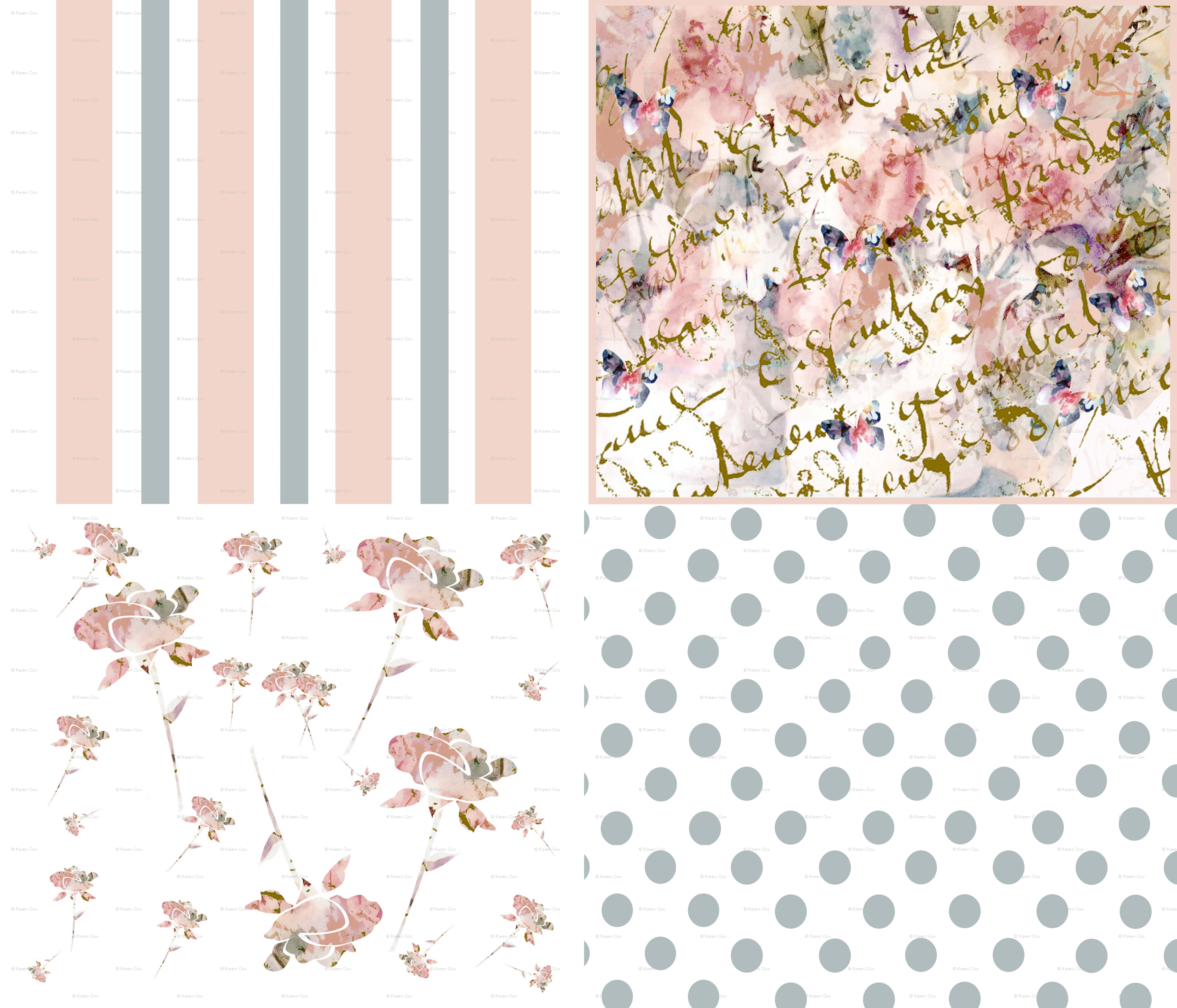 A Shabby Chic Collection Wallpaper