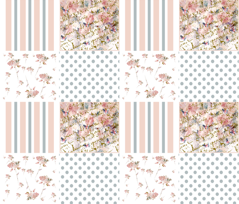 A Shabby Chic Collection fabric by karenharveycox on Spoonflower - custom fabric
