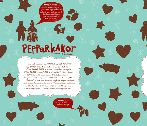Pepparkakor fabric by jenimp on Spoonflower - custom fabric