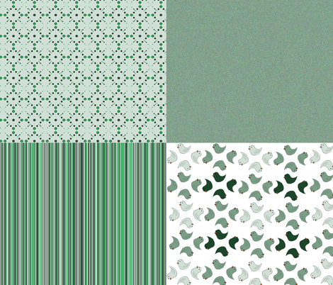 Green relief fabric by melissssaf on Spoonflower - custom fabric