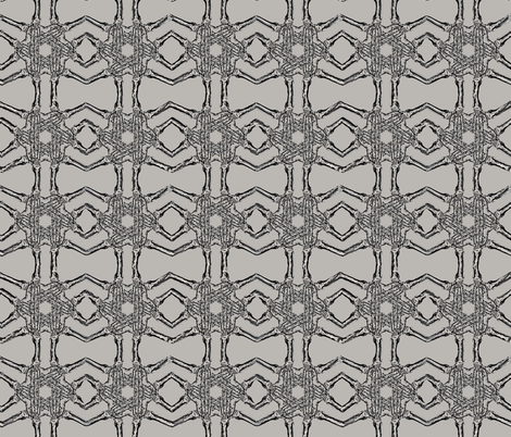 Skeleton hand pattern beige fabric by susiprint on Spoonflower - custom fabric