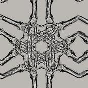Skeleton hand pattern beige
