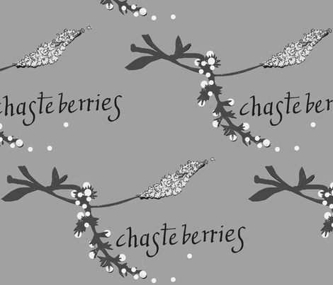 Chasteberries fabric by boris_thumbkin on Spoonflower - custom fabric