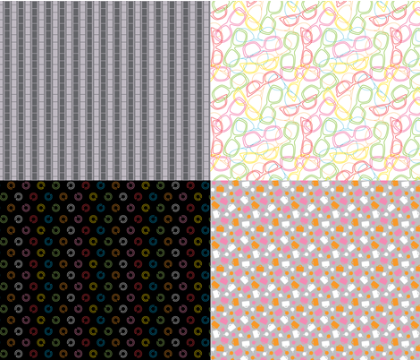 Road Trip Coordinate Sampler fabric by modgeek on Spoonflower - custom fabric