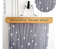 Entangled - Geometric Lines Grey
