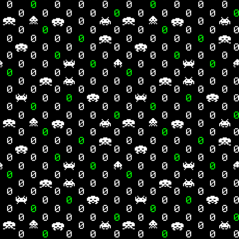 Space Invaders Polka Dots fabric by poshcrustycouture on Spoonflower - custom fabric