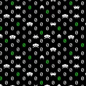 Space Invaders Polka Dots