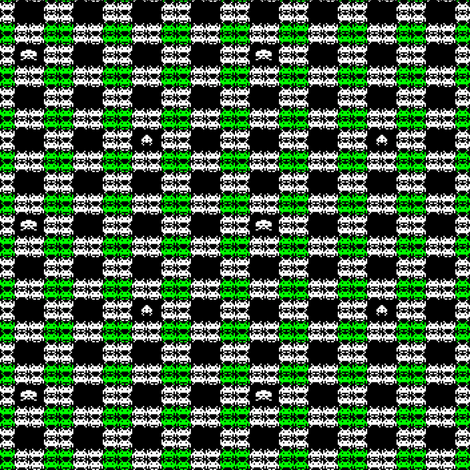 Space Invaders Plaid fabric by poshcrustycouture on Spoonflower - custom fabric