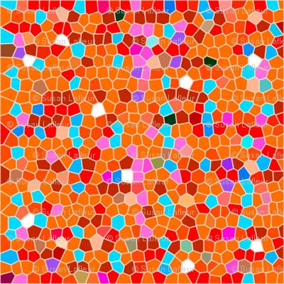 Orange Plaid Abstract