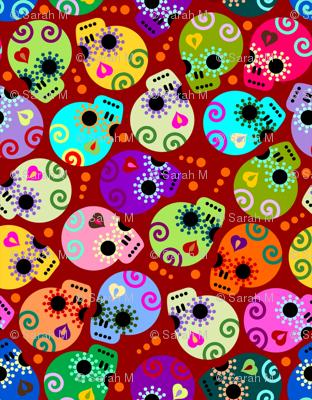 DOTD skulls red small