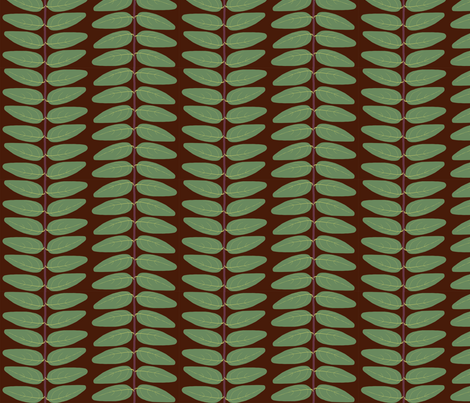 Hypericum Hidcote leaf stripe - dark (Coordinate for Buttercups on a bush) fabric by victorialasher on Spoonflower - custom fabric