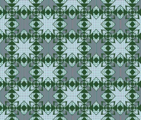 green Kaleidoscope diamonds fabric by dogdaze_ on Spoonflower - custom fabric