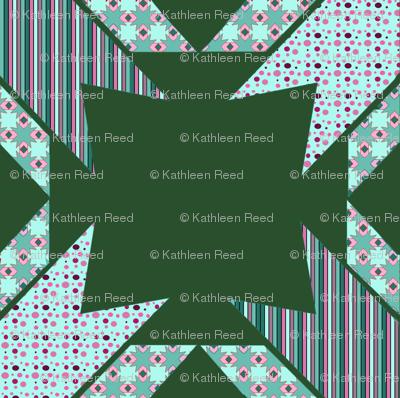 Kaleidoscope Diamonds In Greens