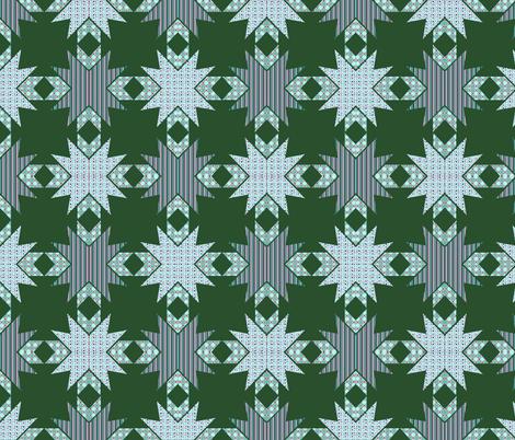 Kaleidoscope Diamonds In Greens  fabric by dogdaze_ on Spoonflower - custom fabric