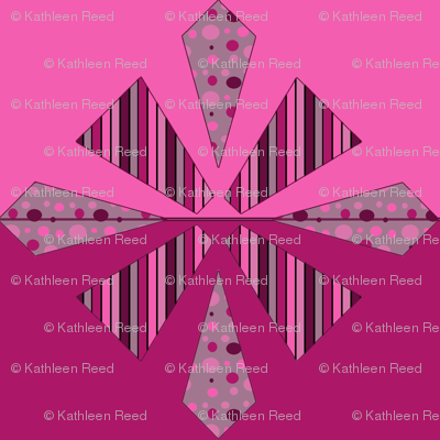 Hot Pink Diamond Pattern