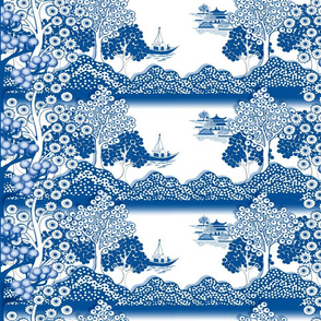 Willow-esque Trees Border Print - Horizontal