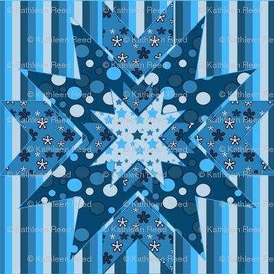 blue star Kaleidoscope